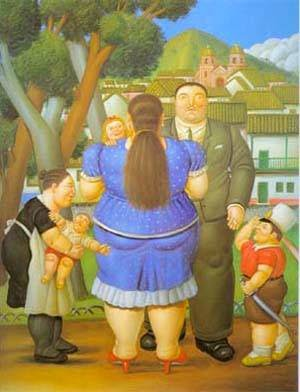 A Família - Fernando Botero e suas pinturas ~ O pintor das figuras volumosas