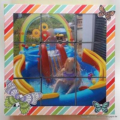 Fotopuzzle als Geschenk für ein Mädchen Stampin' Up! www.eris-kreativwerkstatt.blogspot.de