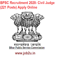 BPSC Recruitment 2020- Civil Judge (221 Posts) Apply Online