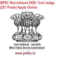 BPSC Recruitment 2020- Civil Judge (221 Posts) Apply Online