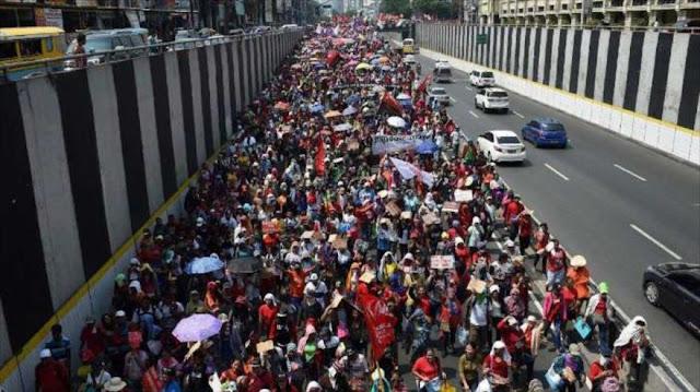 El mundo marcha por el Día del Trabajador