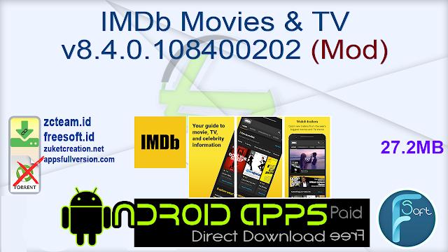 IMDb Movies & TV v8.4.0.108400202 (Mod)