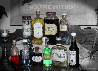http://www.fynesdesigns.com/decoupage-diy-halloween-apothecary-jars/