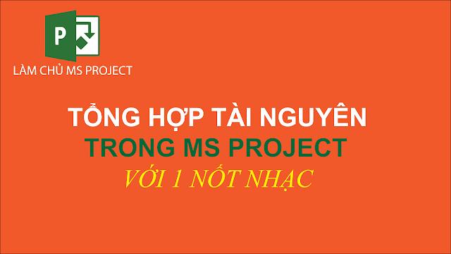 Tổng hợp tài nguyên trong MS Project