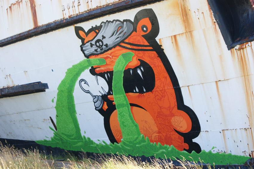 Kiwie New Pieces In Llanerch Y Mor North Wales Streetartnews