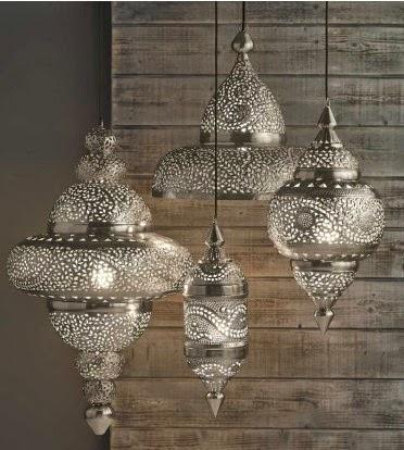 Detailed hanging silver Moroccan lanterns | Lindsay Eryn