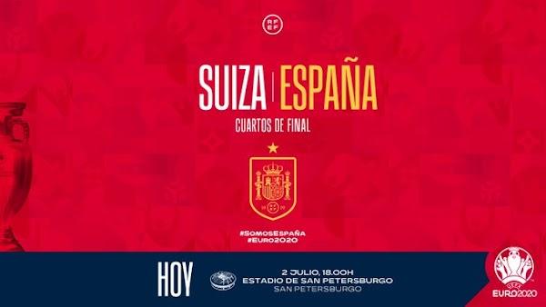 Suiza - España, alineaciones oficiales