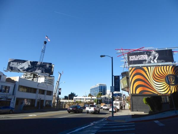Saint Laurent at Palladium 2016 billboard Sunset Strip