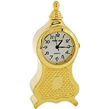 Park Lane Goldtone Metal Miniature Carriage Collectors Novelty Clock PLCLK07