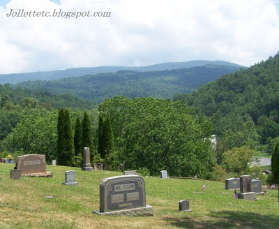 View from Jollett Cemetery, Naked Creek, Virginia