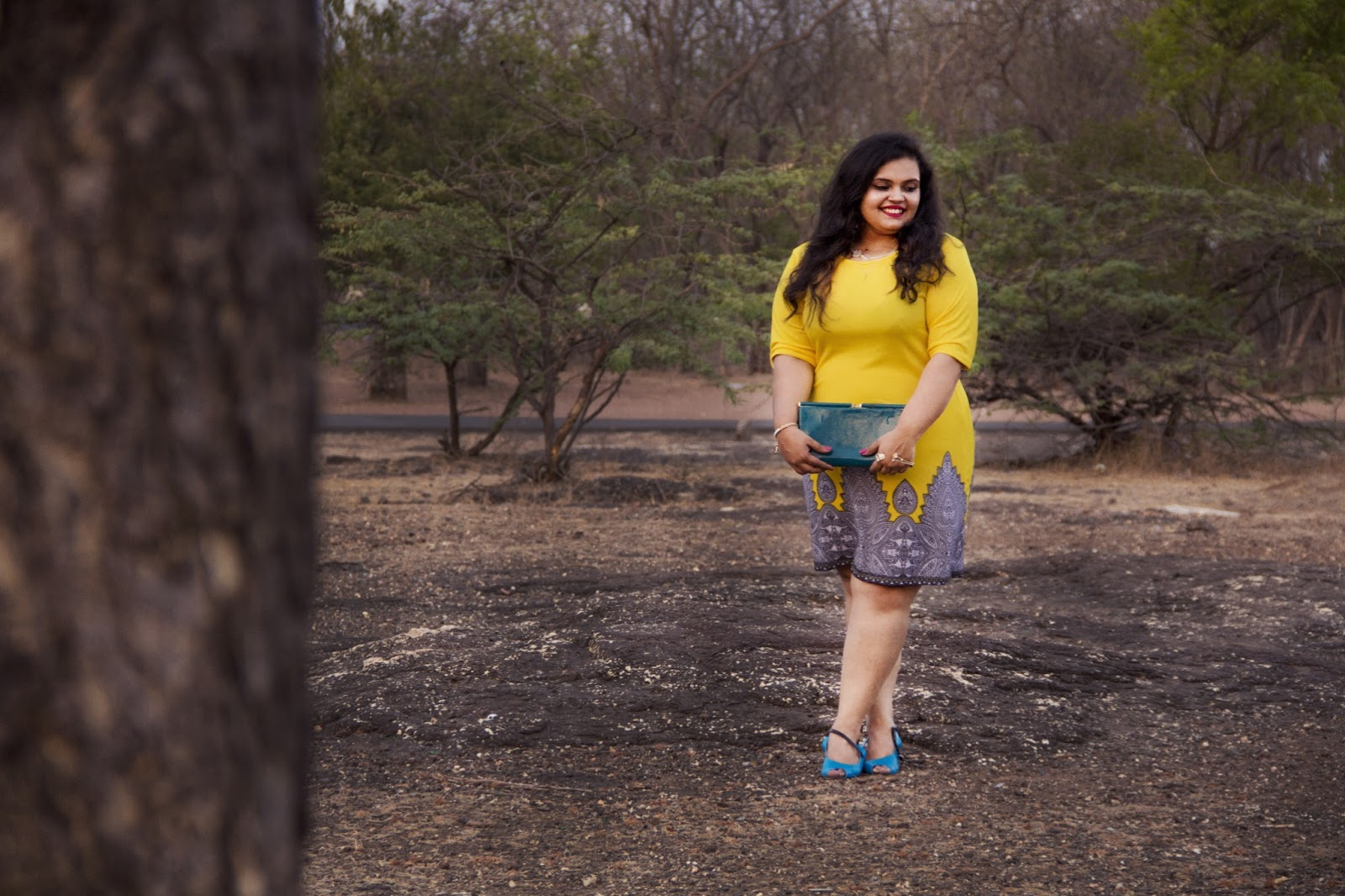 yellow dress reliance trends summer fashion colour blocking