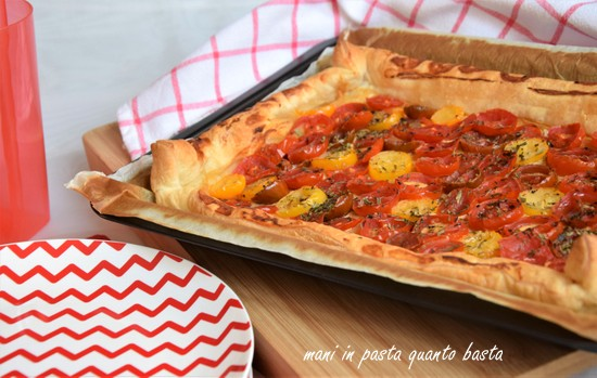 French tomato & mustard tart with tarragon