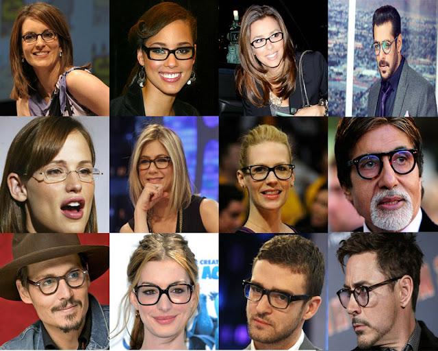celebrities who wear glasses