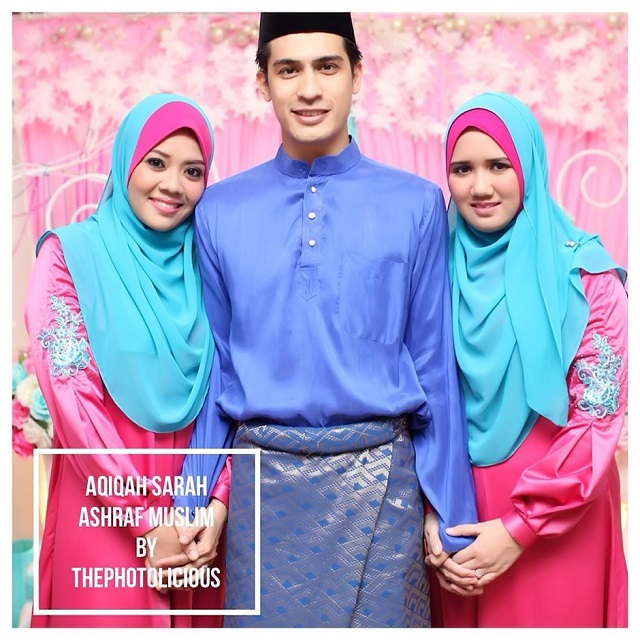 Ashraf bersama dua isterinya. FOTO: Thephotolicious