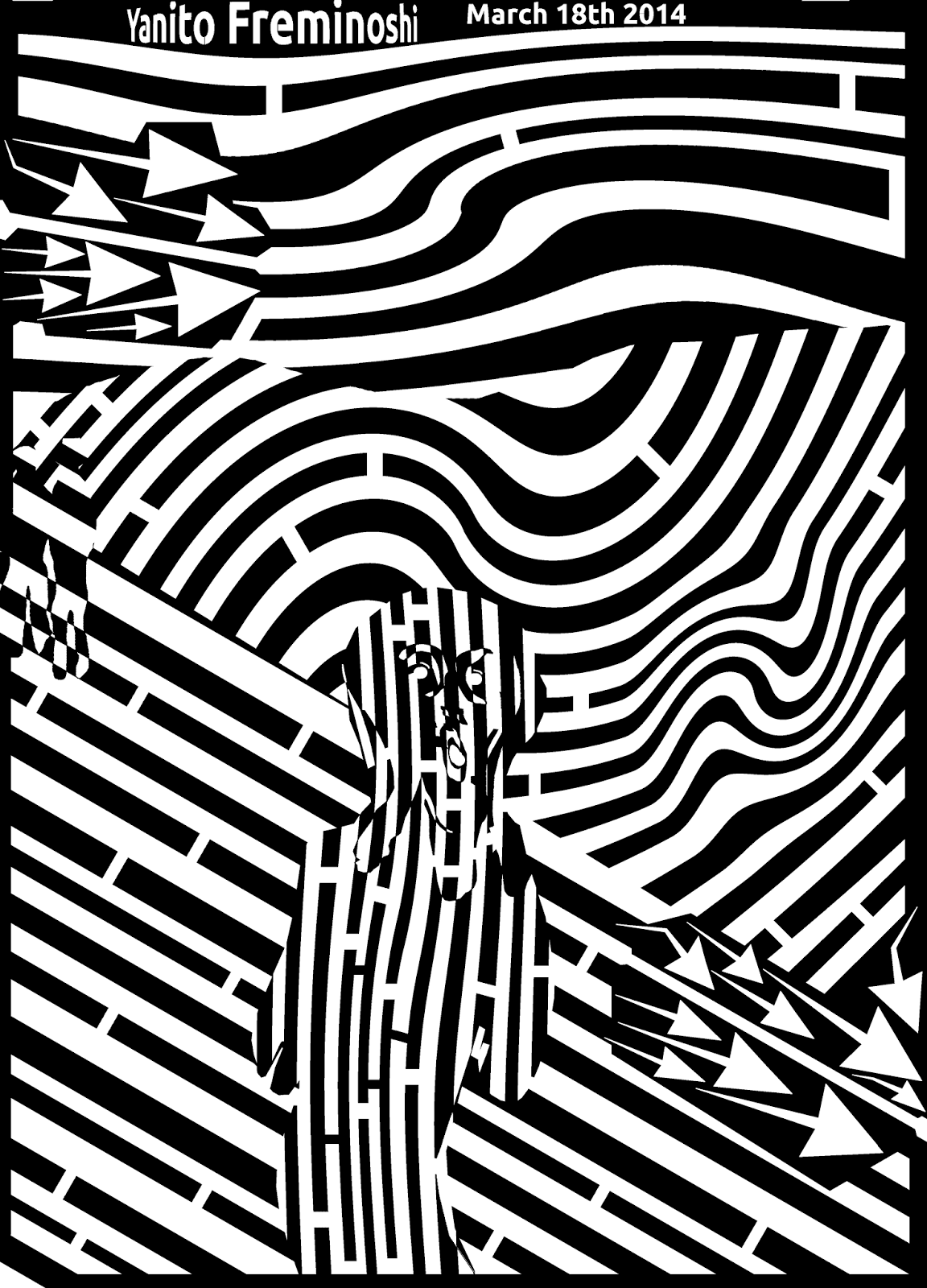 maze scream munch op eye edvard optical painting illusions tangible mazes famous schrei der solution artwork casino yanito catchy march