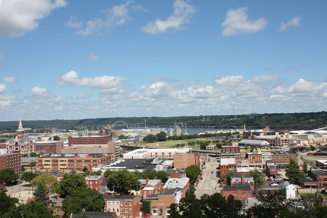Dubuque from above after riding the Fenelon Place Elevator.