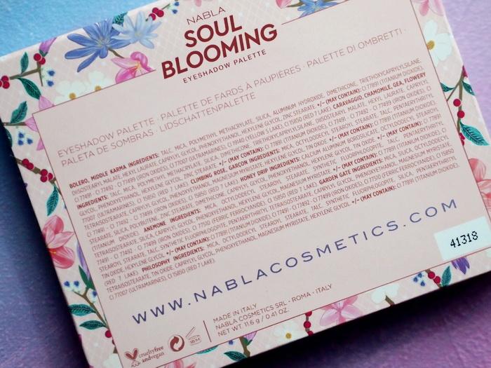 NABLA Soul Blooming Inhaltsstoffe