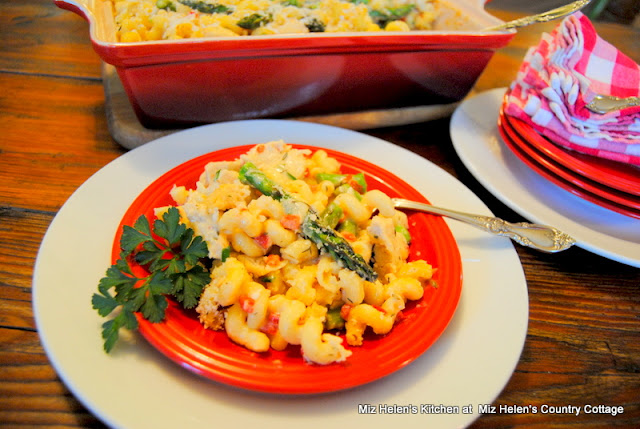 Chicken Asparagus Pasta Bake at Miz Helen's Country Cottage