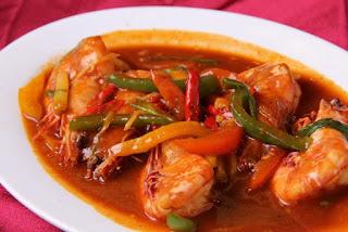 resep membuat udang saus tiram pedas