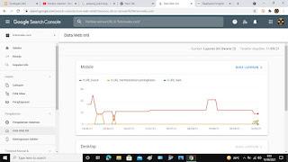Data web Inti  Halaman Google Search Console