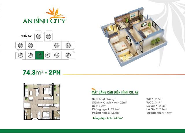 Thiết kế căn hộ điển hình tại An Bình City