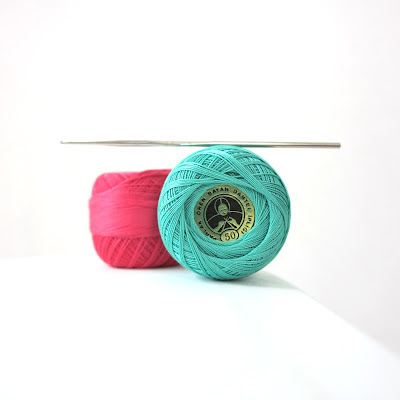 turkish crochet, pink, aqua, thread, hook, Haafner