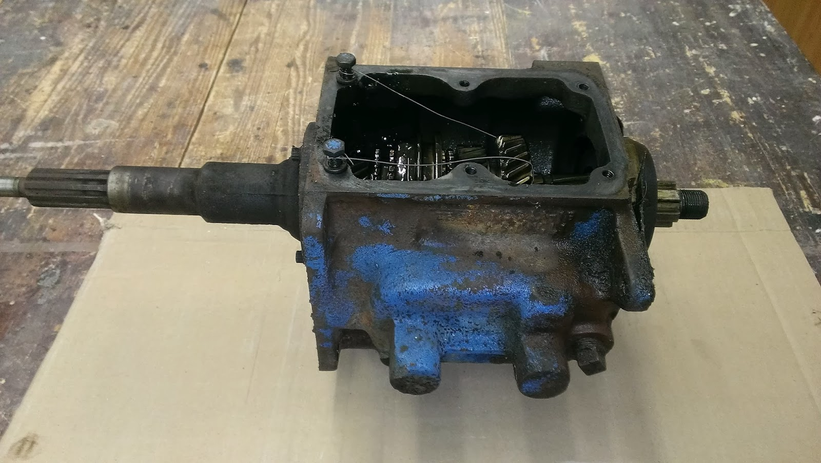 small resolution of transfer case and pto ready to take apart will do that after transmission