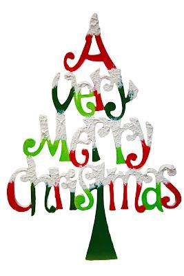 Merry Christmas Tree Letter design