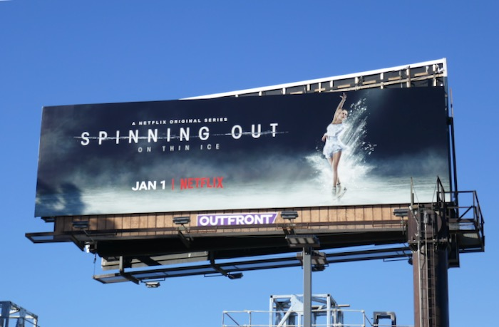 Spinning Out series premiere billboard