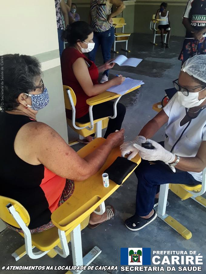 Caiçara é mais uma localidade atendida por uma equipe do Programa Saúde da Família (PSF)
