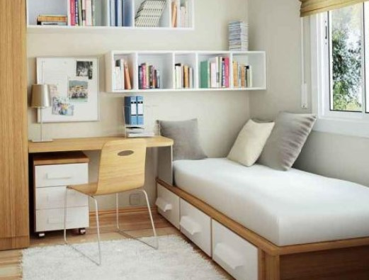 kamar tidur terang