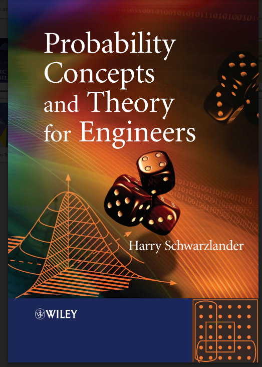 Probability Concepts and Theory for Engineers By Harry Schwarzlander