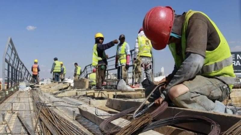 Caída del empleo en la construcción