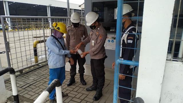 Personel Ditpamobvit Polda Banten Berikan Imbauan Prokes di Obvitnas dan Obter