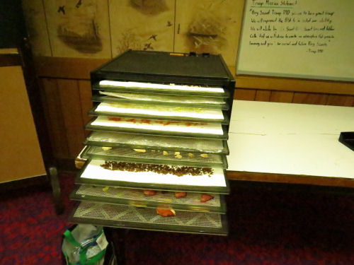 dehydrator filled with food