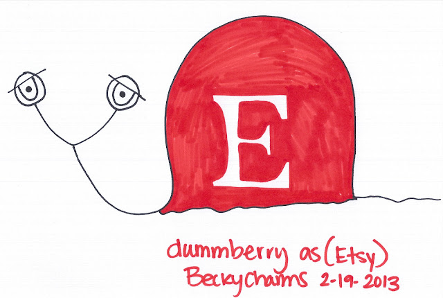 Dummberry as a Homemade Handcrafted Etsy Creation by BeckyCharms 2013, 2013, dummberry, beckycharms, snail, Etsy, art, arte, artist, artwork, cartoon, life, lifestyle, San Diego, New York, sketch,