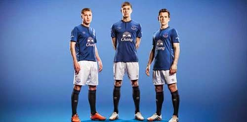 3830958fa 2014 15 Everton home away thrid kit from Umbro