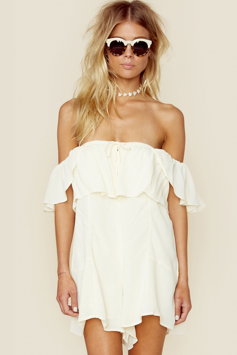 Privacy Please Cody Off The Shoulder Romper