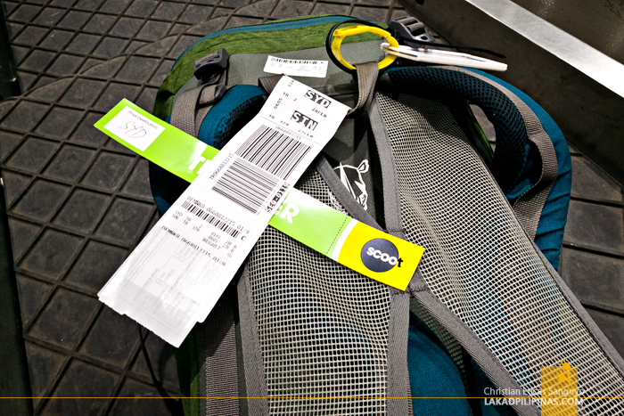 Scoot Review Manila to Singapore to Australia Check In Baggage