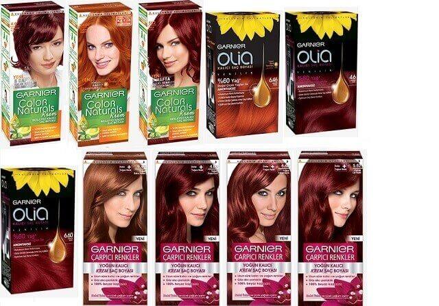 Garnier saç kızıl renk kataloğu