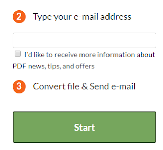 convert pdf and send email