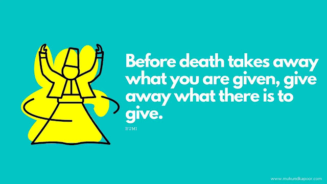 rumi quotes on death and life
