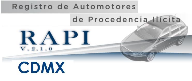 Version Actual de Rapi Consulta CDMX PGJ