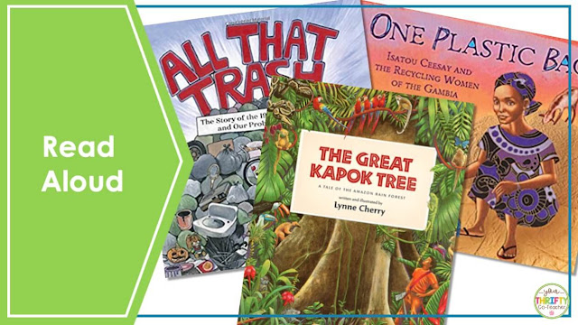 Searching for some Earth Day activities for upper elementary kids? Include some Earth Day read aloud picture books.