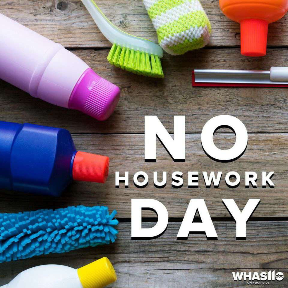 National No Housework Day Wishes Sweet Images