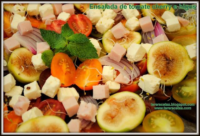 Ensalada de tomate cherry e higos 01