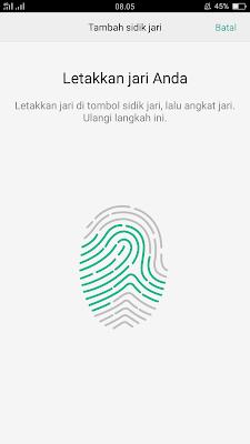 Cara Mengaktifkan Fitur Finger Print di Android Oppo F1 Plus