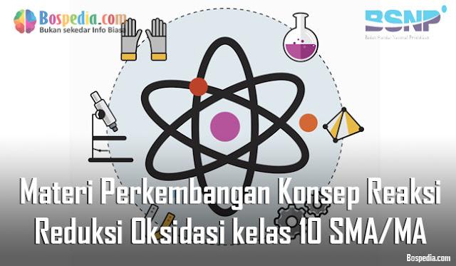 Materi Perkembangan Konsep Reaksi Reduksi Oksidasi kelas 10 SMA/MA