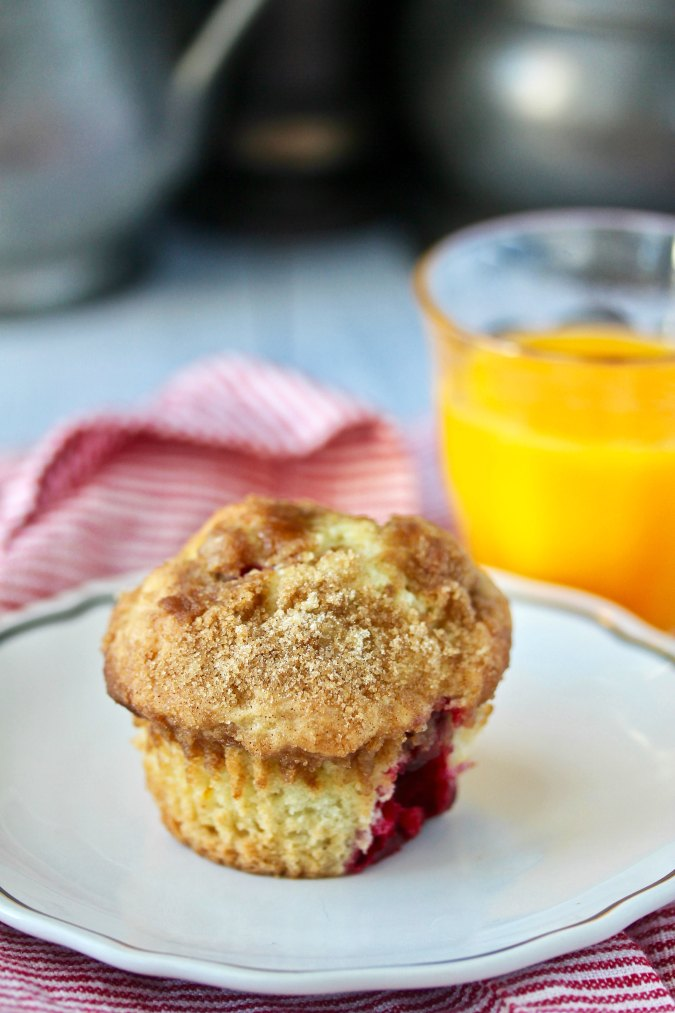 Sourdough Cranberry Muffins with orange juice