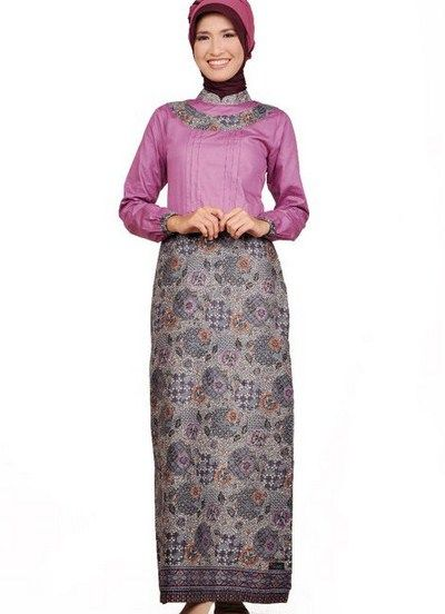 Model Dress Batik Sarawak Kain Songket Modern